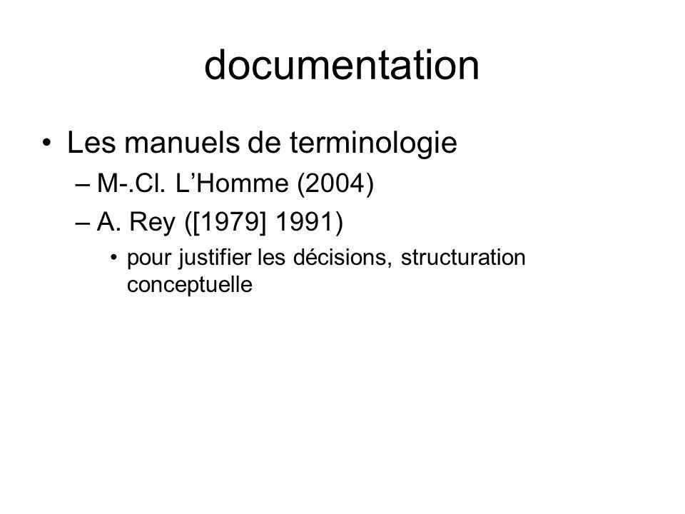 documentation Les manuels de terminologie M-.Cl. L'Homme (2004)