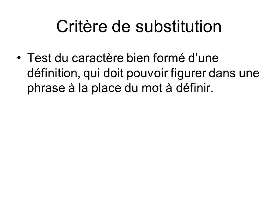 Critère de substitution