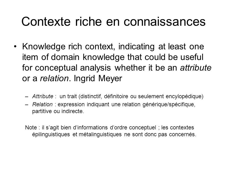 Contexte riche en connaissances
