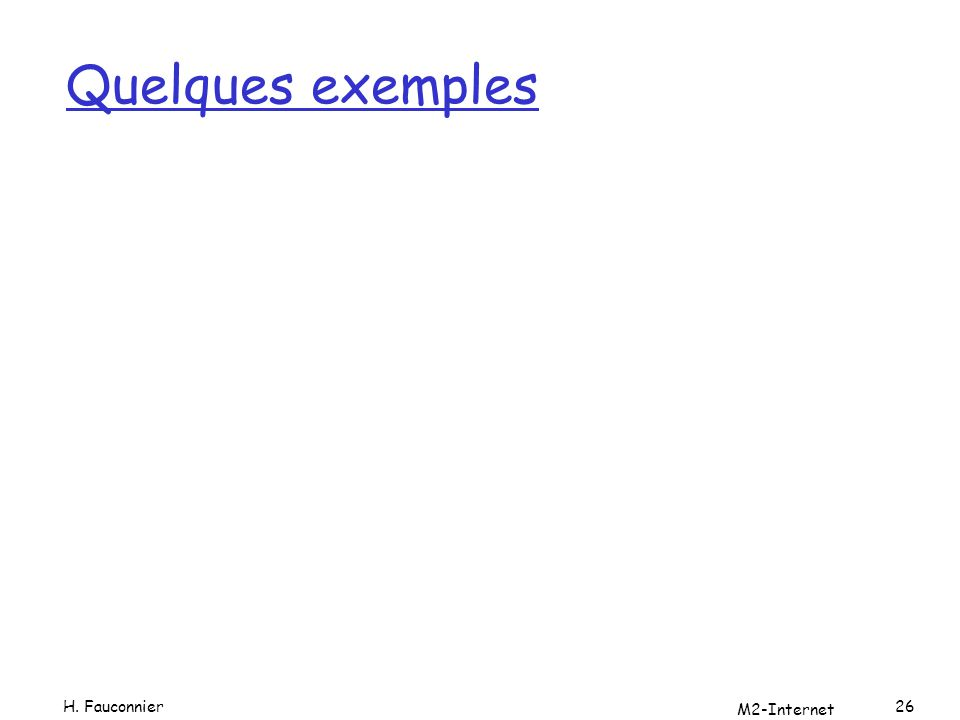Quelques exemples H. Fauconnier M2-Internet