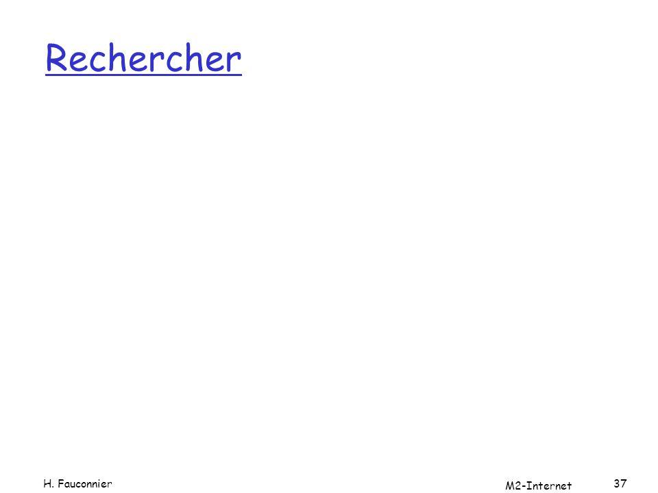 Rechercher H. Fauconnier M2-Internet