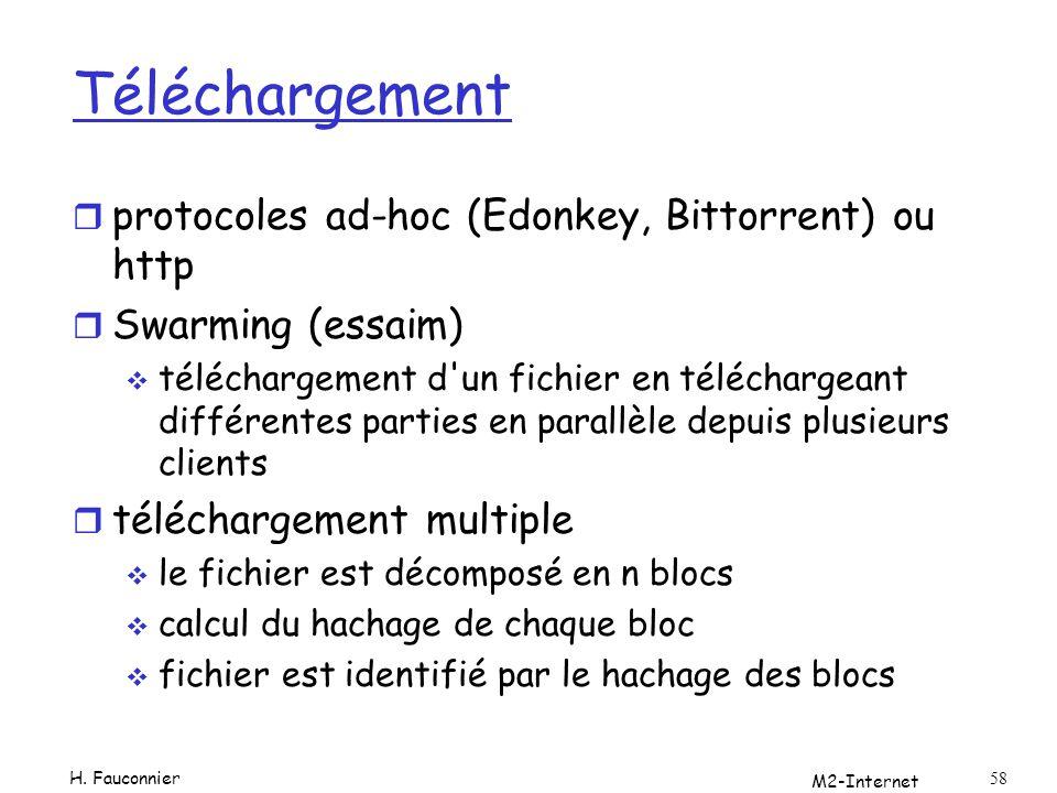 Téléchargement protocoles ad-hoc (Edonkey, Bittorrent) ou http