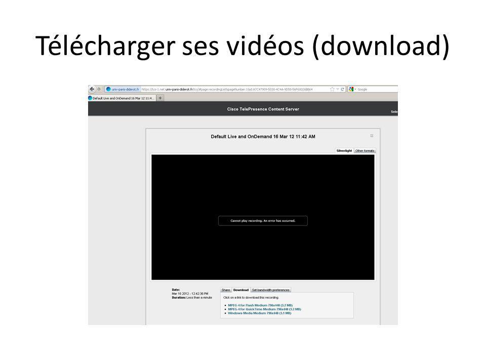 Télécharger ses vidéos (download)