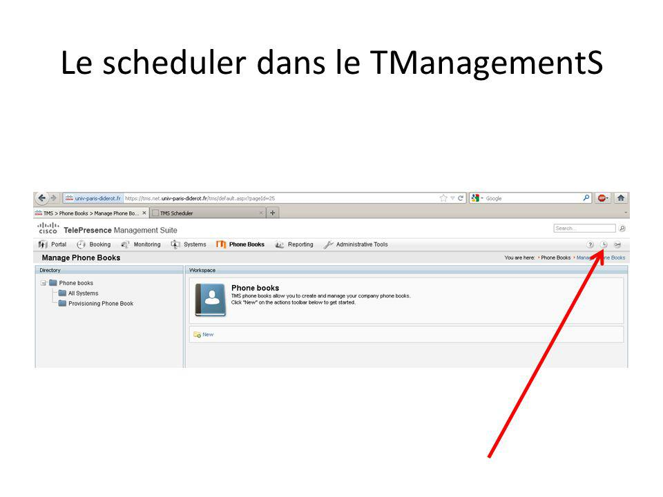 Le scheduler dans le TManagementS