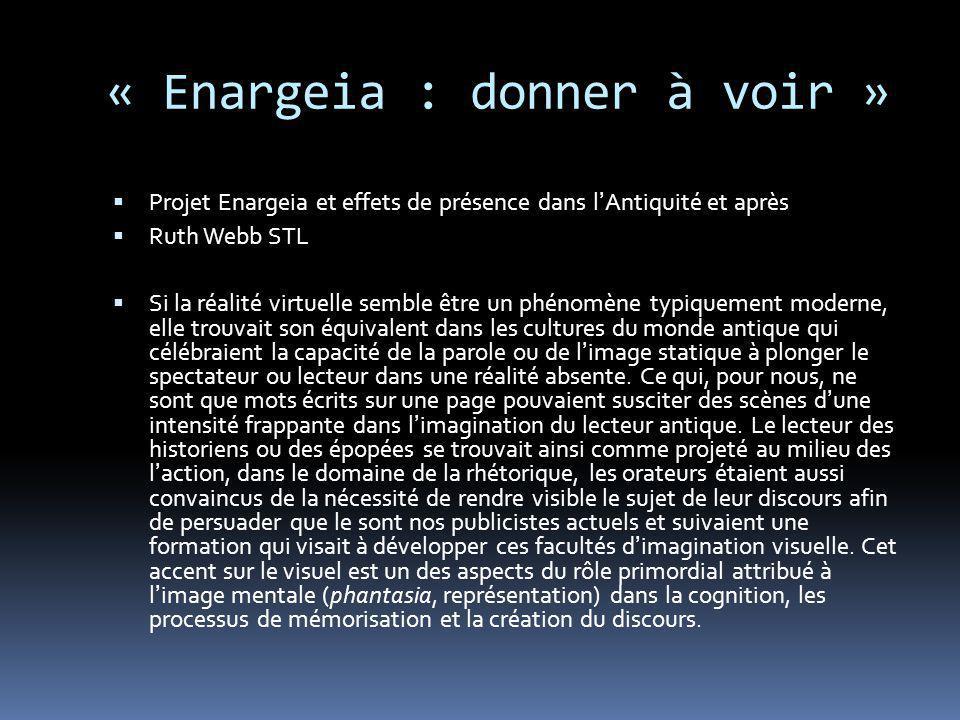 « Enargeia : donner à voir »