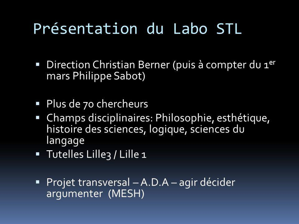 Présentation du Labo STL