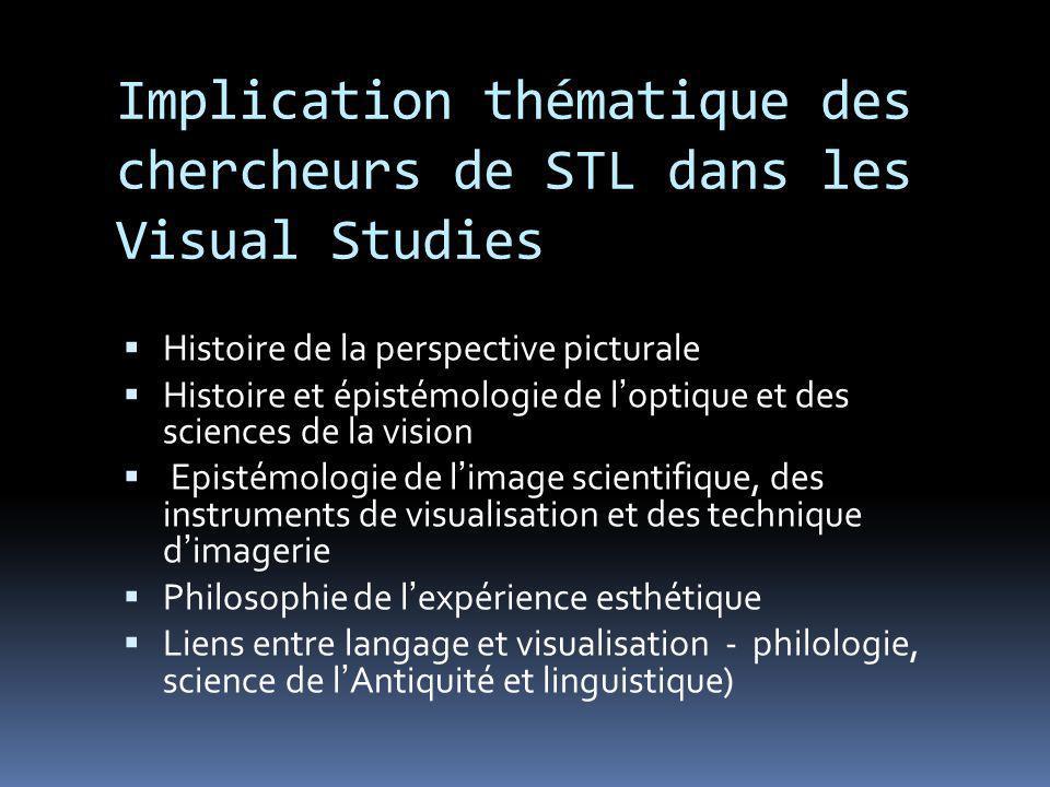 Implication thématique des chercheurs de STL dans les Visual Studies