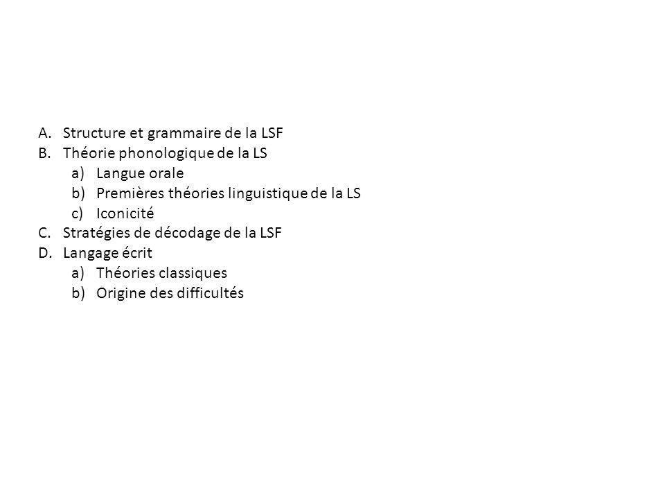 Structure et grammaire de la LSF