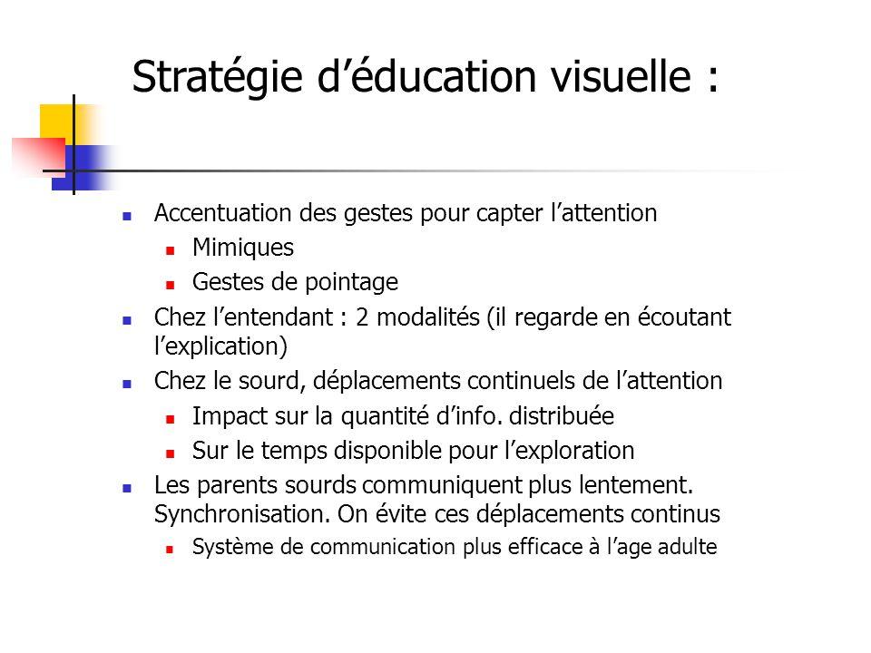 Stratégie d'éducation visuelle :