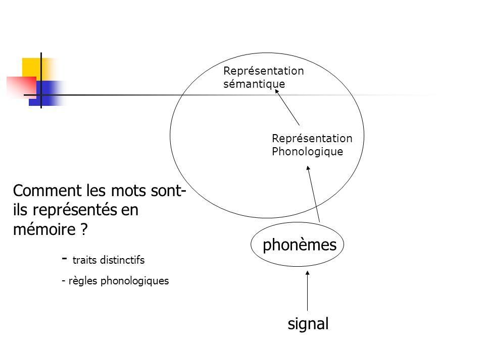 Comment les mots sont-ils représentés en mémoire