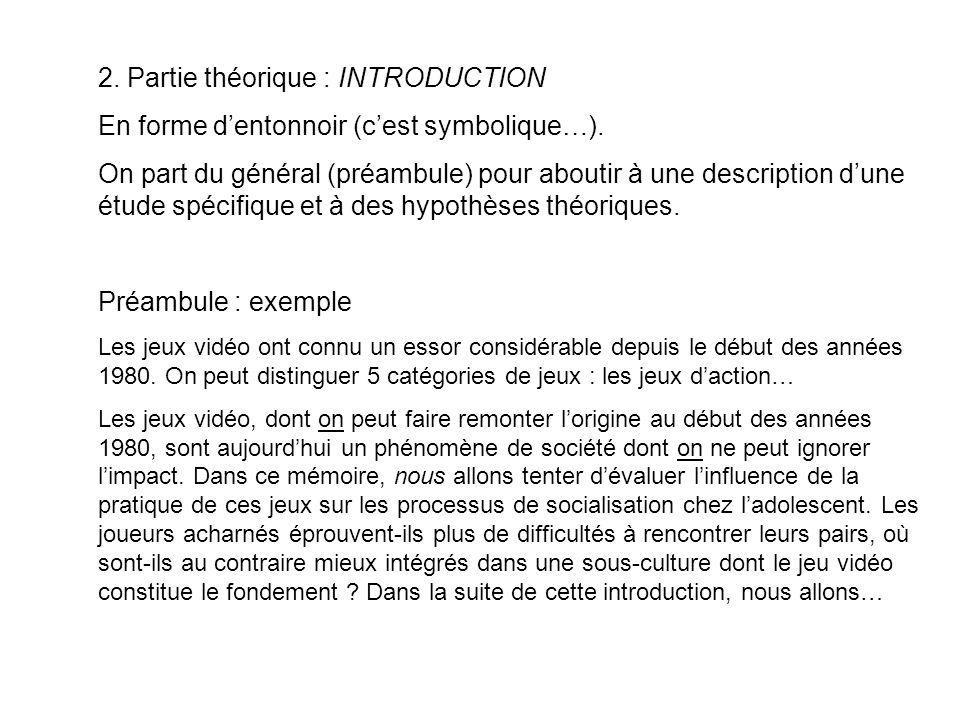 2. Partie théorique : INTRODUCTION