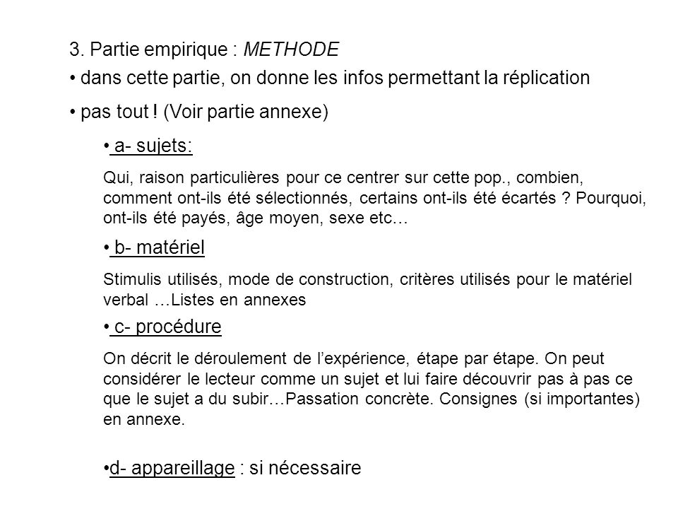 3. Partie empirique : METHODE