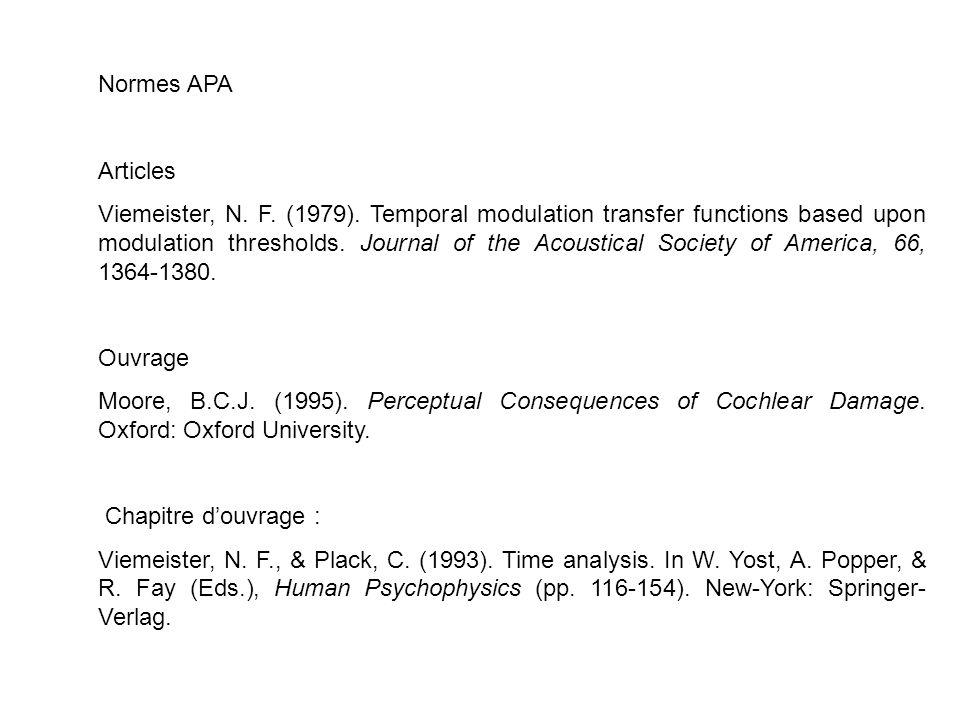 Normes APA Articles