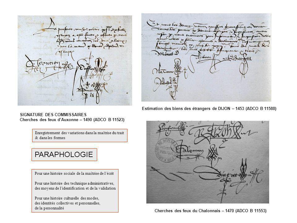 Estimation des biens des étrangers de DIJON – 1453 (ADCO B 11588)