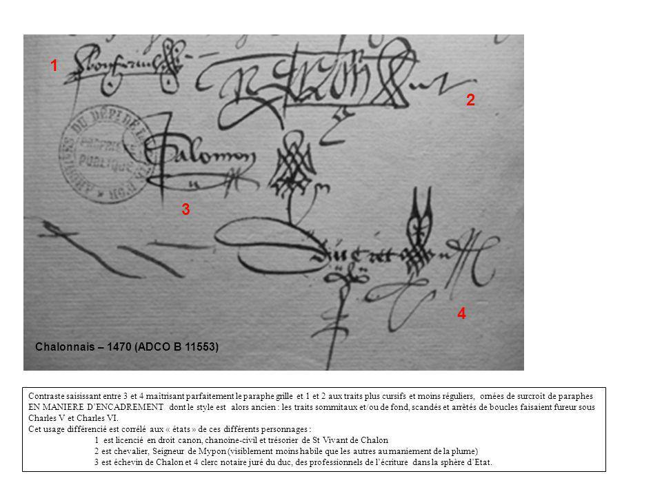1 2. 3. 4. Chalonnais – 1470 (ADCO B 11553)