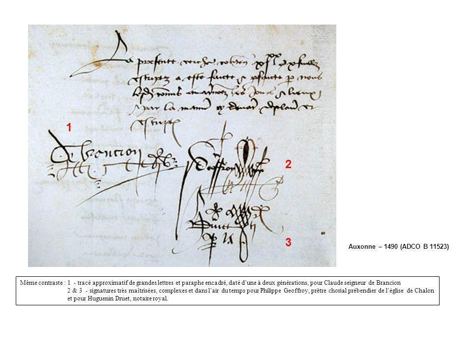 1 2. 3. Auxonne – 1490 (ADCO B 11523)