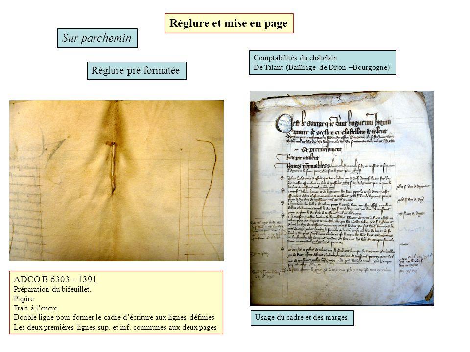 Réglure et mise en page Sur parchemin Réglure pré formatée