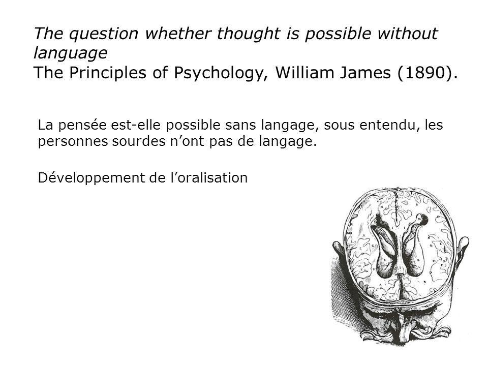 The question whether thought is possible without language