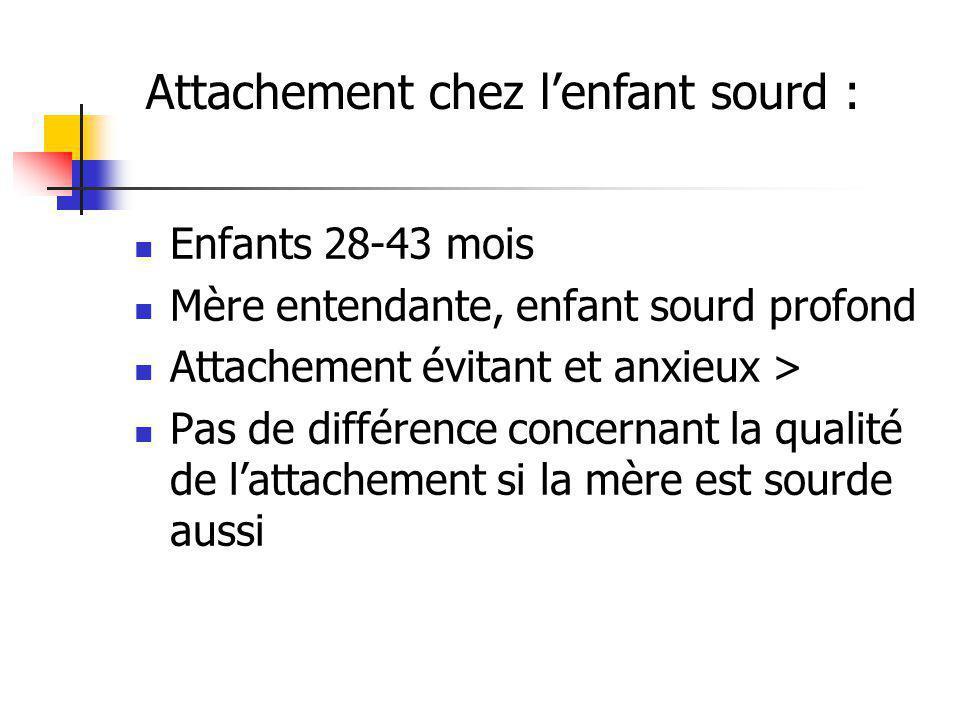 Attachement chez l'enfant sourd :