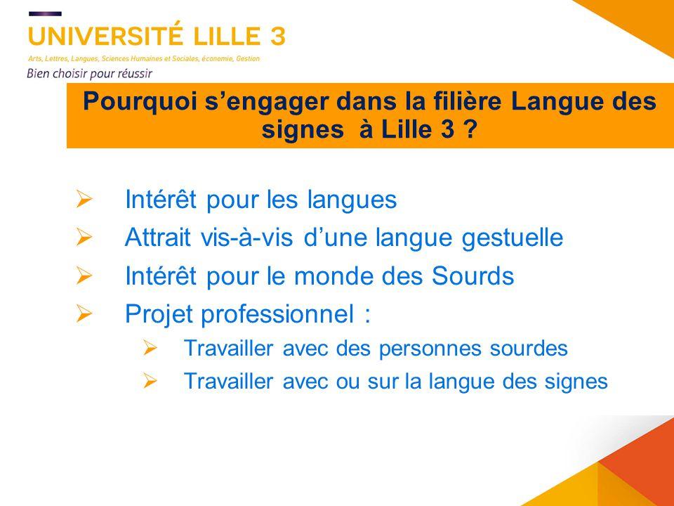 Pourquoi s'engager dans la filière Langue des signes à Lille 3
