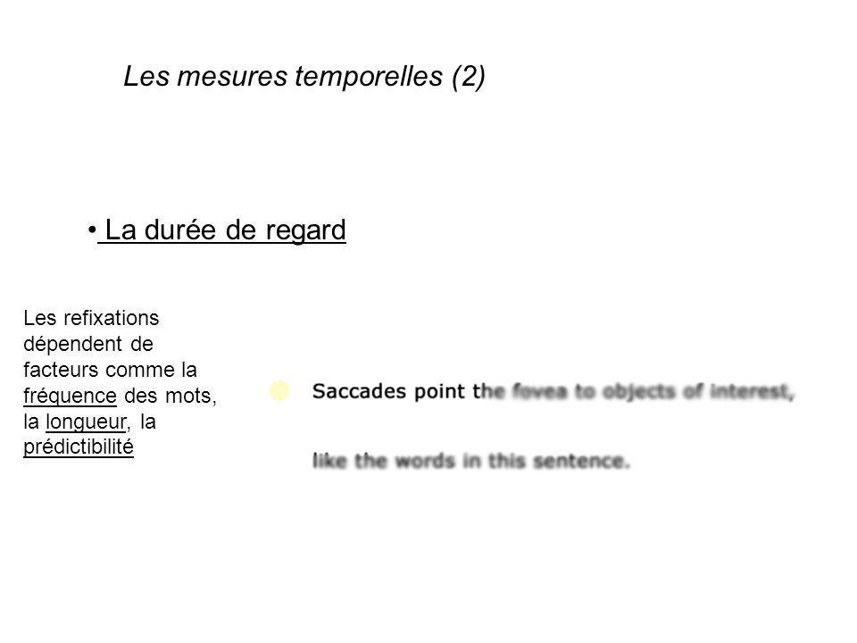Les mesures temporelles (2)