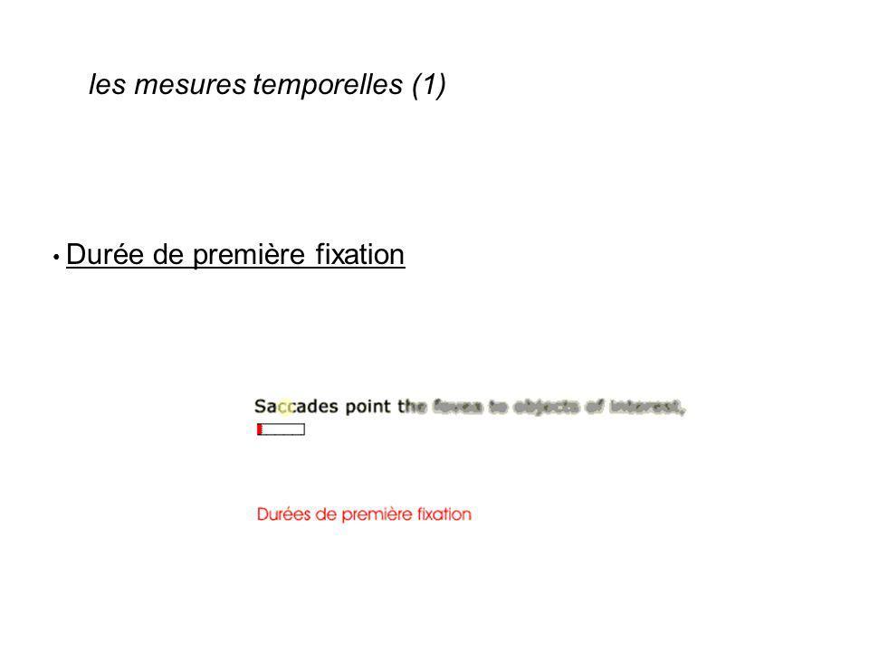 les mesures temporelles (1)