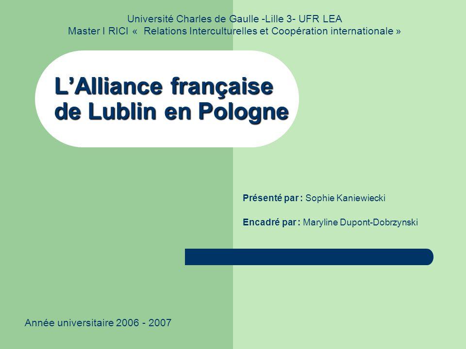 L'Alliance française de Lublin en Pologne