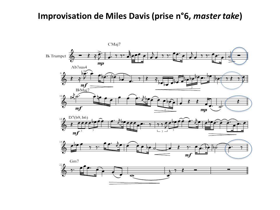 Improvisation de Miles Davis (prise n°6, master take)