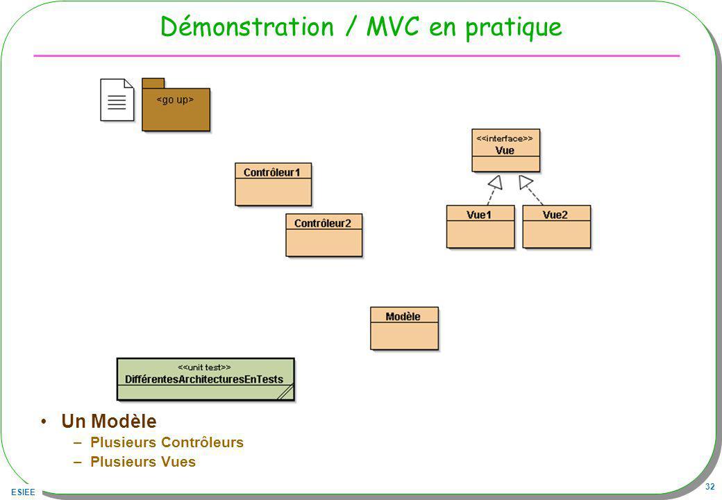 Démonstration / MVC en pratique