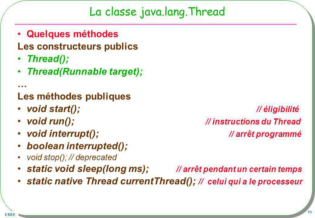La classe java.lang.Thread