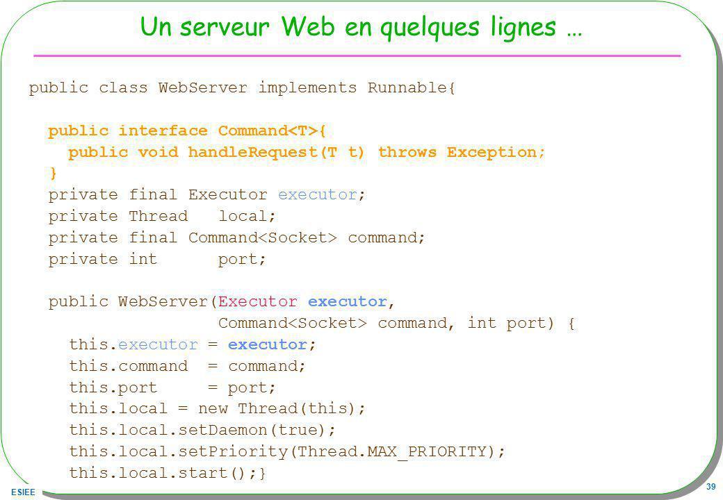 Un serveur Web en quelques lignes …