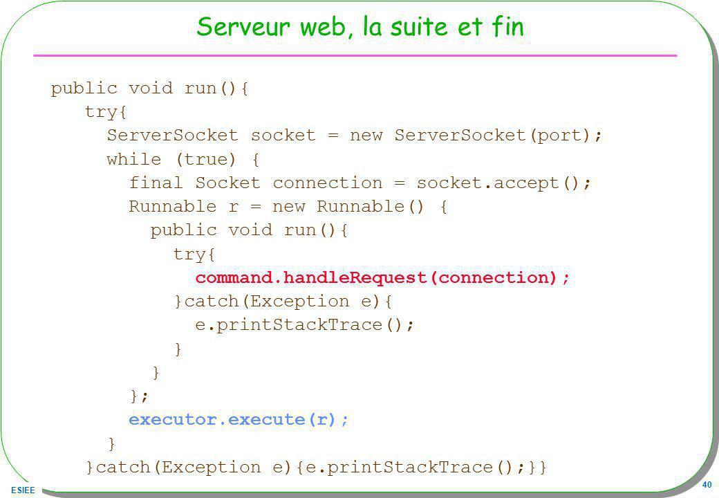 Serveur web, la suite et fin