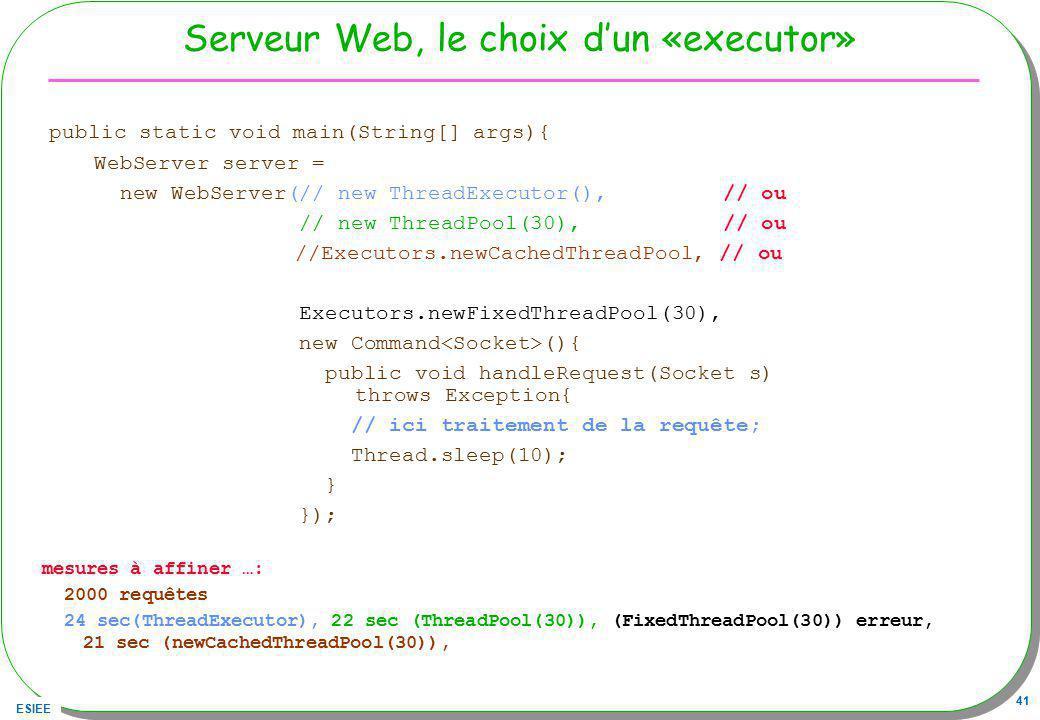 Serveur Web, le choix d'un «executor»