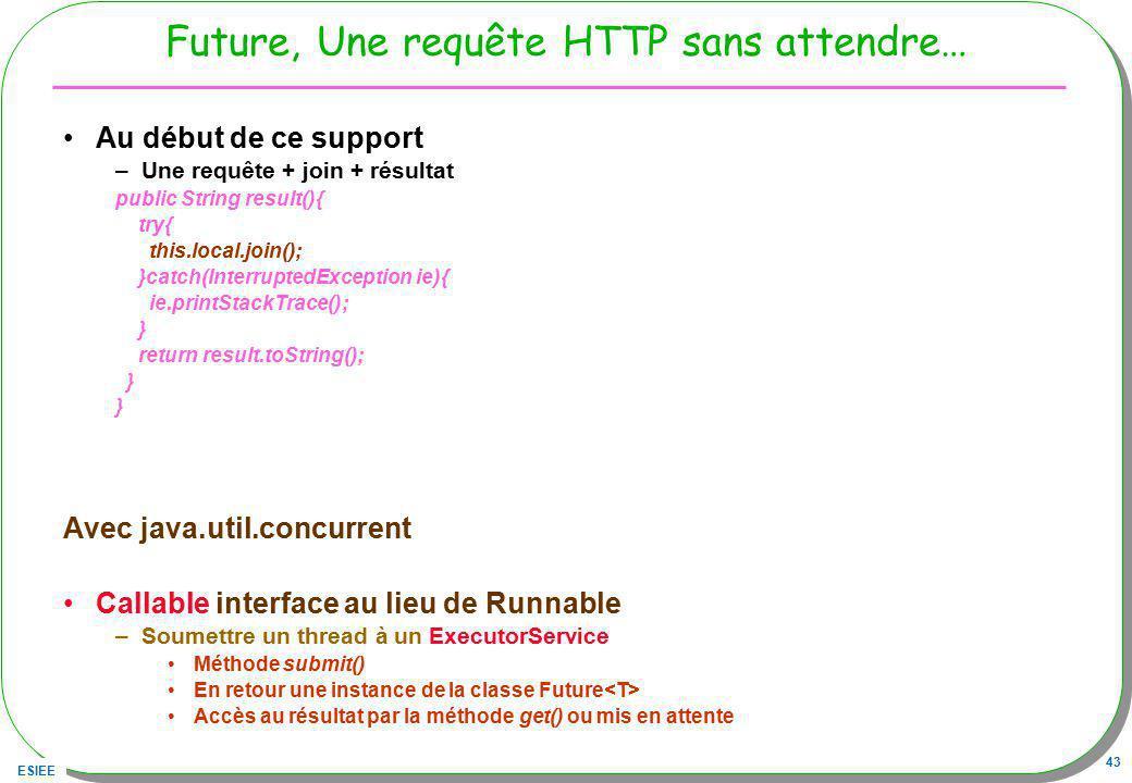 Future, Une requête HTTP sans attendre…