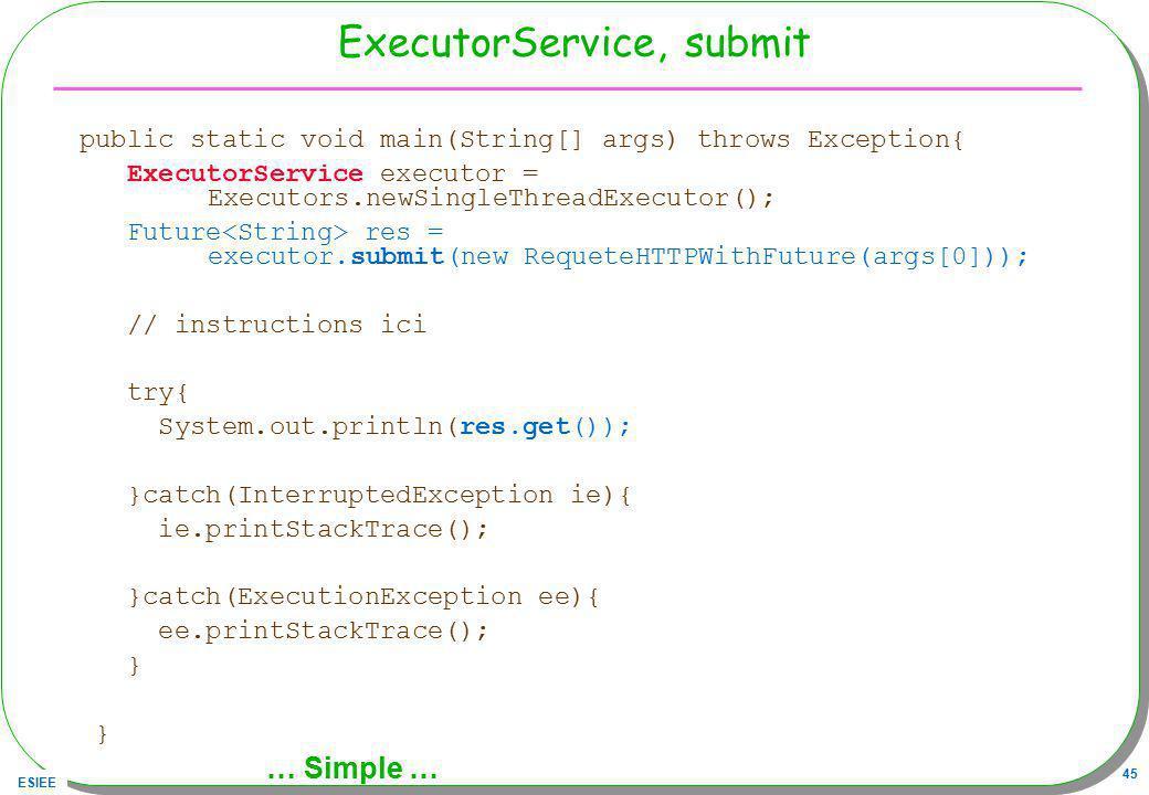 ExecutorService, submit