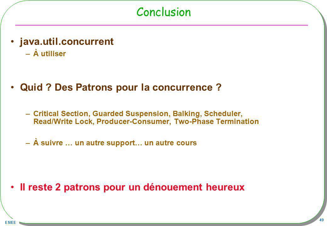 Conclusion java.util.concurrent