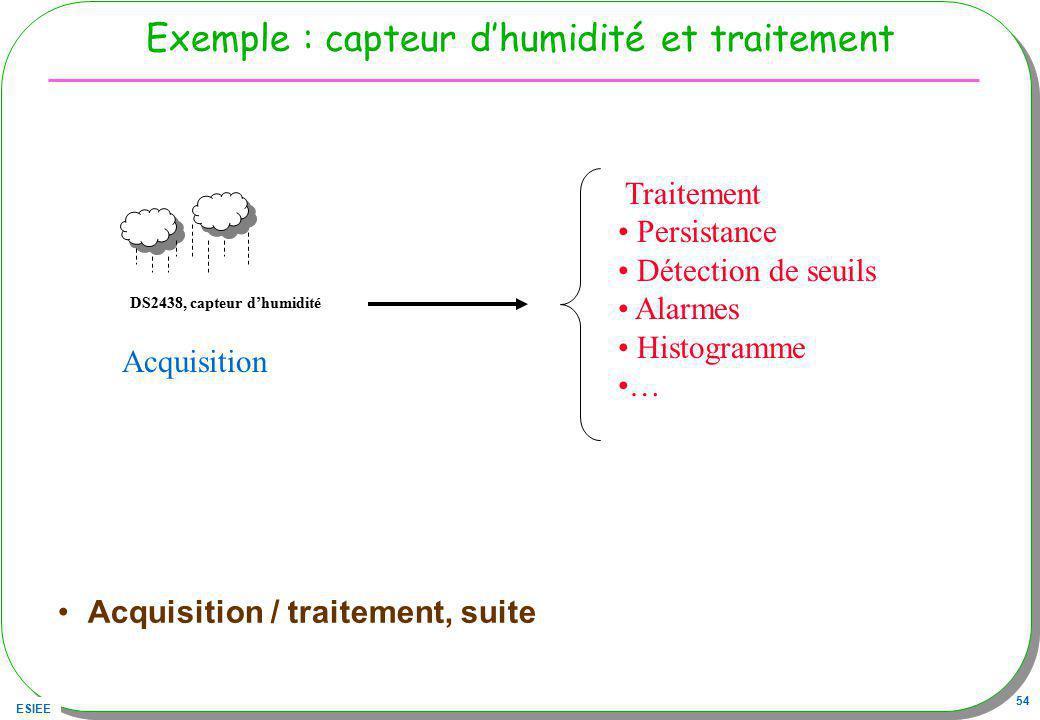 Exemple : capteur d'humidité et traitement