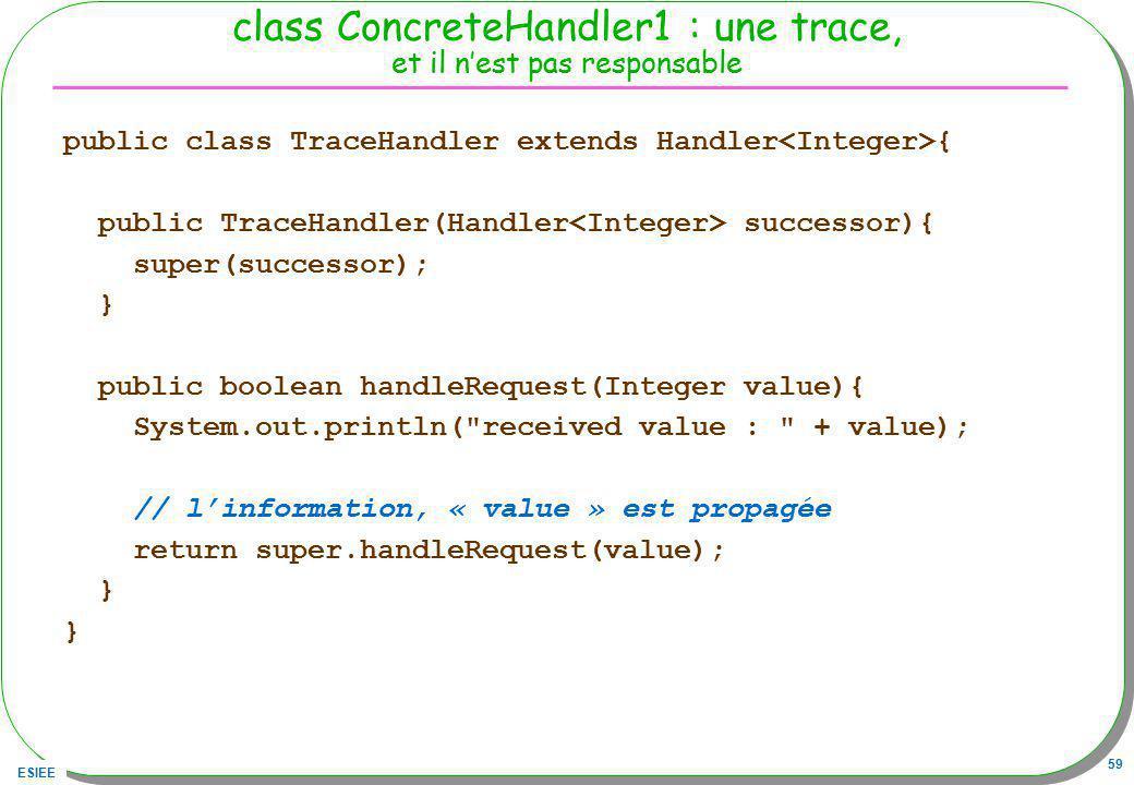 class ConcreteHandler1 : une trace, et il n'est pas responsable