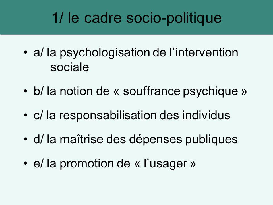 1/ le cadre socio-politique