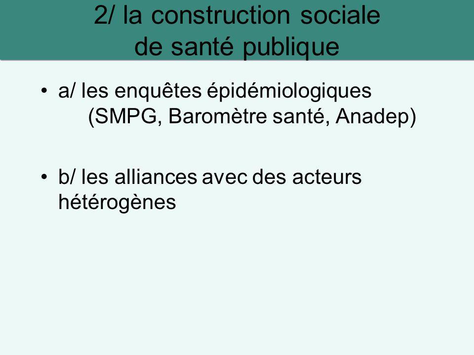 2/ la construction sociale de santé publique