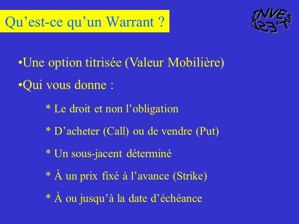 Qu'est-ce qu'un Warrant