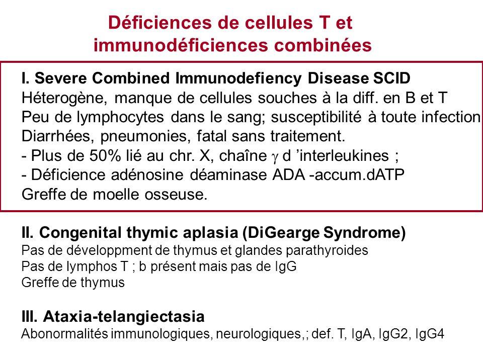 Déficiences de cellules T et immunodéficiences combinées