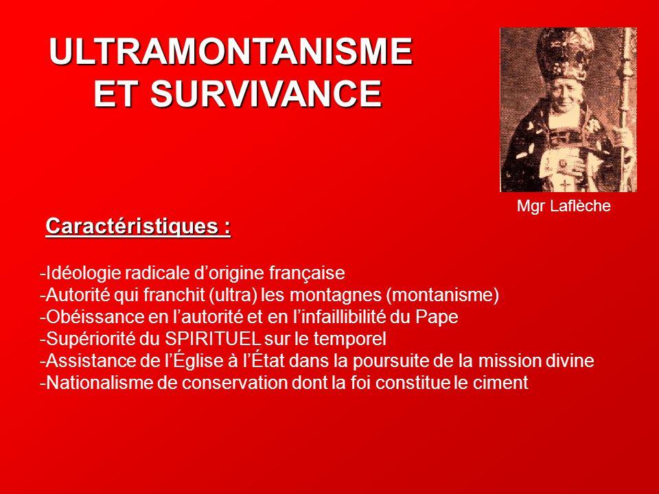 ULTRAMONTANISME ET SURVIVANCE