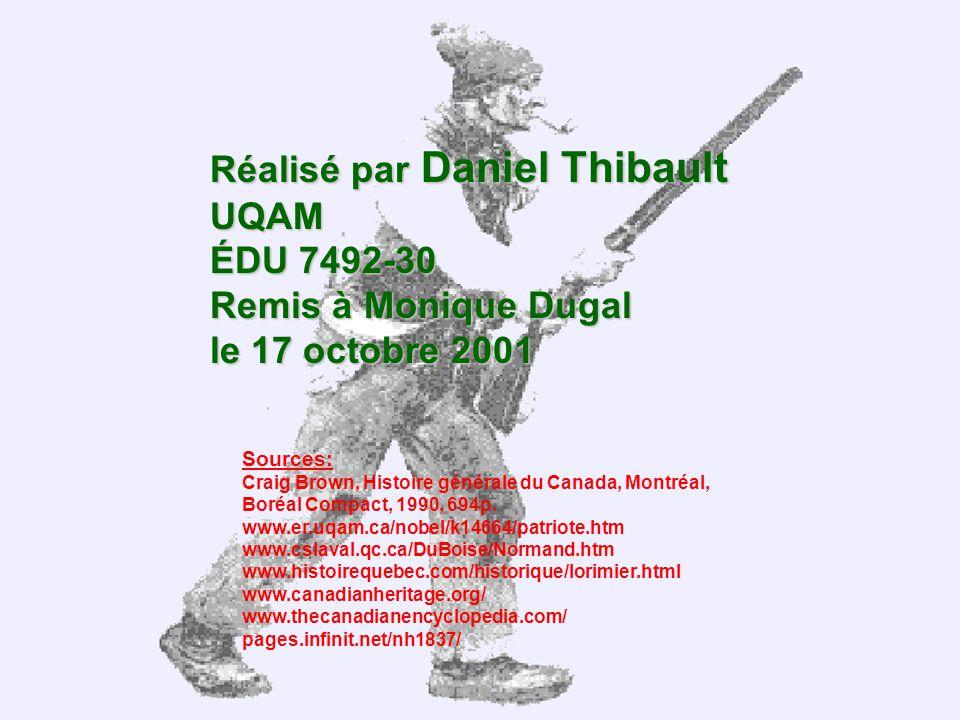 Réalisé par Daniel Thibault UQAM ÉDU 7492-30 Remis à Monique Dugal