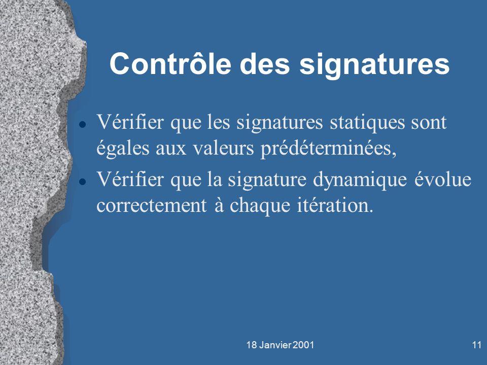 Contrôle des signatures