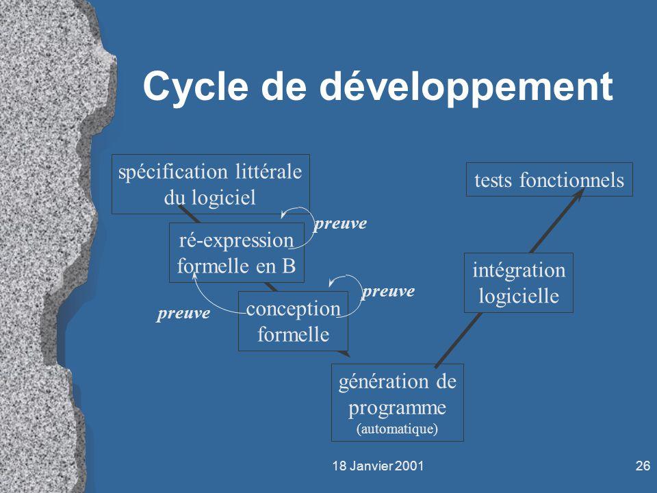 Cycle de développement