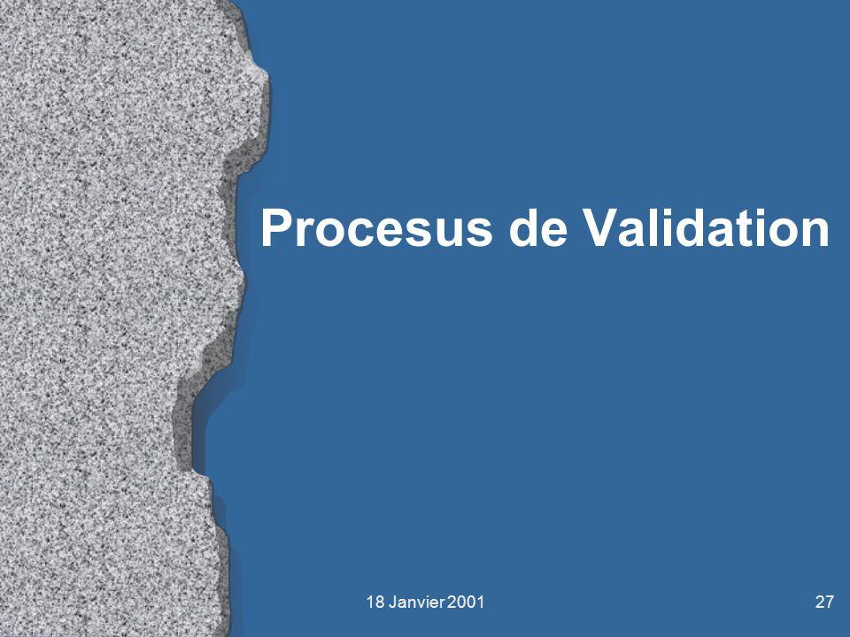 Procesus de Validation