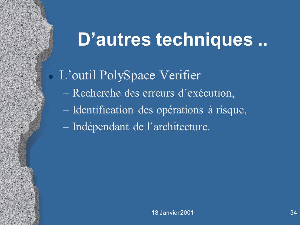 D'autres techniques .. L'outil PolySpace Verifier