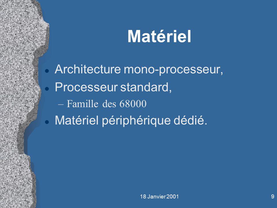 Matériel Architecture mono-processeur, Processeur standard,