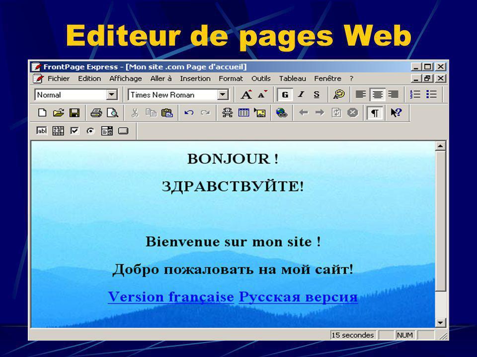 Editeur de pages Web